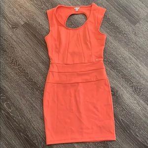 💗 Guess Keyhole Coral Scuba Dress 💗